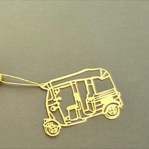 Other - Bookmark Design-Brass metal cutting Tuk Tuk